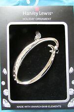 """Nib Initial """"O"""" Silver Metal Ornament Swarovski Elements by Harvey Lewis"""