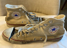 Vintage Made In USA Used Trashed Converse Chuck Taylor Canvas Sneakers White 8.5