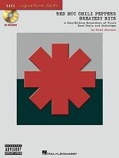 Red Hot Chili Peppers Greatest Hits For Bass Guitar FLEA Tab Music Book & CD