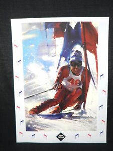Stephen Palmer United States Winter Olympics Slalom Skiing USA Lithograph