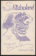 SHADOWLAND #2, August 1951, Monster Fanzine - VG+