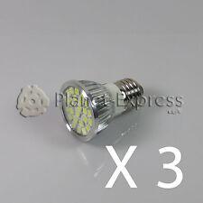 3 x Lampada 24 LED SMD 5050 E27 Bianco Caldo 220V Sotto Consumo!!! Equiv. 50W