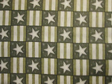 STARS STRIPES CAMO TAN ARMY MILITARY COTTON FABRIC FQ