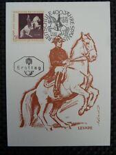 AUSTRIA MK 1972 1397 REITSCHULE PFERDE DRESSUR CARTE MAXIMUM CARD MC CM a8530