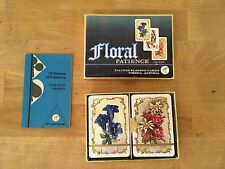 NOS 2 Decks FLORAL PATIENCE Playing Cards Ferd Piatnik Miniature Made in Austria