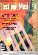 magazine, nostalgic, collectible, Electronic Musician 1990-01