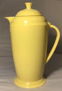 Yellow Fiesta Ware Thermal Hot/Cold Carafe