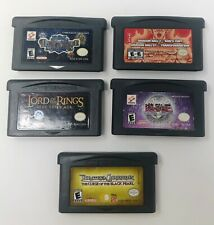 Nintendo Gameboy Advance Games (5) Lot LOTR Yugioh Dragonball Z