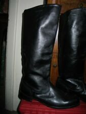Military Men Vintage Officer Police Tall Boots From Europe Size 9 C 42/270