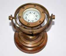 vintage brass nautical gimbal compass vintage ship's binnacle gimballed compass