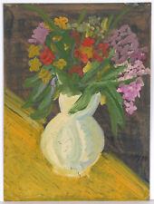 """Alexander Vasilevich Shevchenko-? """"Flower still-life"""", tempera, 1934"""