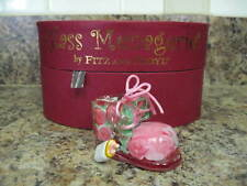 Glass Menagerie by Fitz & Floyd Pink Roses Baby Shoe Glass Figurine New In Box