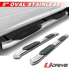 "4"" Curved Stainless Side Steps Side Bars For 2009-2018 Dodge Ram 1500 Quad Cab"