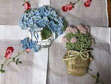 New ListingSet Of 2 Marjolein Bastin Refrigrerator Magnets Blue Flowers & Thyme