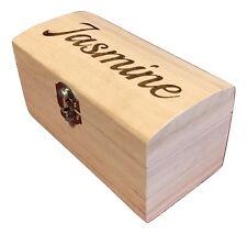 Wooden Storage Boxes / Small Personalised Engraved Wooden Box Trinket Keepsake