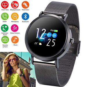 Women Men Smart Watch Touch Screen Waterproof Compatible with ios iPhone Android