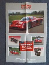 "Cartel De 22"" X 15"" - Goodmans Sonido-John Bartlett Racing"