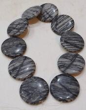 Beads Jasper Zebra Gray Black Round Beads 40mm
