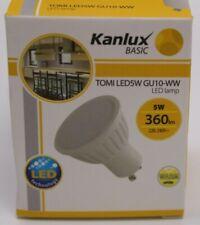 10 Stück Kanlux Basic Tomi LED5W GU10-WW LED Lampe mit Milchglasscheibe weiß