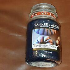 YANKEE CANDLE MOONBEAMS ON PUMPKINS LARGE JAR  htf halloween