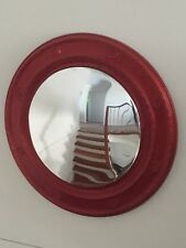 c98981574aa4 Large 80cm wall mirror round Convex Metalic Red