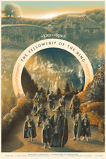 LORD OF THE RINGS: Fellowship of the Ring Screen Print by TOM MIATKE x/225 Mondo