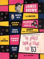 JAMES BROWN 1963 BIGGEST SHOW OF STARS FALL CONCERT PROGRAM BOOK / NMT 2 MINT