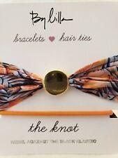 Bracelet/Hair Tie Set With Grapefruit Bow
