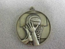 "Basketball medal, gold, award, 2"", simple & economical, boys or girls"