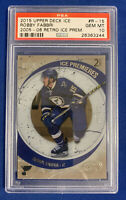 ROBBY FABBRI PSA 10 2015-16 UPPER DECK ICE ROOKIE CARD #297/799