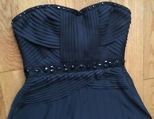 BCBG MaxAzria Black Dress Size 6 S Strapless Sweetheart Neckline