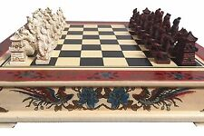 NEW Qin Dynasty Chess Set. Pieces are Stored In the Drawers. Resin Pieces