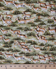 Deer Impala African Wildlife Antelope Safari Cotton Fabric Print by Yard D509.06