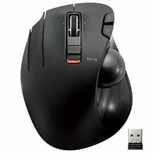 ELECOM Left-Handed 2.4GHz Wireless Thumb-operated Trackball Mouse 6-Button Fu...
