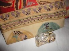 VOHANN SOUTHWESTERN KOKOPELLI PURPLE TERRACOTTA TEAL SHOWER CURTAIN HOOKS NEW
