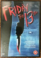 Friday The 13th DVD Original Uncut 1980 Horreur Film Film Tronçonneuse Classique