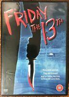 Friday The 13th DVD Original Uncut 1980 Terror Película de Cine Slasher Clásico