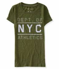 NEW Aeropostale Women's Green Felt Embellished Athletic Depart T-Shirt Size M