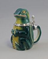 9959253 Ens E.Bohne Porzellan Bierkrug Frosch grün 19cm