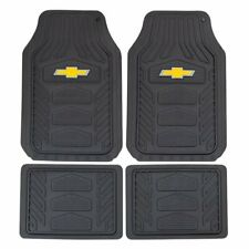 Chevy Weatherpro Black Car Truck Suv Heavy Duty All Weather Rubber Floor Mats (Fits: Chevrolet)