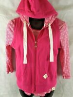 Natalie & Me Pink 3/4 Sleeve Knit Top W/ Matching Full Zip Hoodie Vest Size M-L