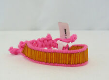 New Hollister Hot Pink and Orange Bracelet with Silver Seagull Logo