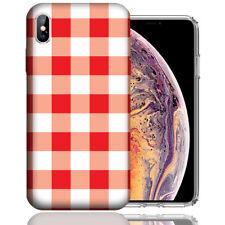 MUNDAZE Apple iPhone XR Design Case - Red White Plaid Cover