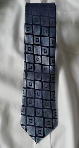 Herren Qualitäts-Krawatte handgefertigt blau, handmade tie AD-4451
