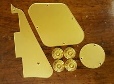 Pickguard,Back Plates and Knobs.. Solid Gold Metallic...Fits Gibson Les Paul JAT