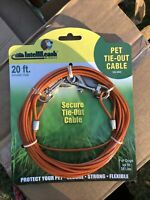 IntelliLeash Products Tie Out Cable for Dogs, Multiple Lengths and 35 lb/20'
