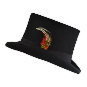 Quality Hand Made 100% Wool Top Hat in Black, WILLY WONKA STYLE steampunk events