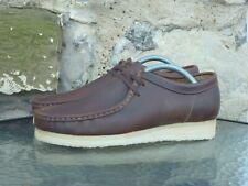 Clarks Originals Wallabees UK 7 Brown Beeswax Leather Crepe BNIB desert trek new