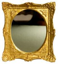 Dolls House Gold Framed Oval Mirror Falcon Miniature Accessory Rectangular