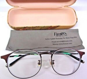 Firm GD-1608 51x17-142 COL.07 Eye Glasses Full Brown/Black With Vintage Map Case